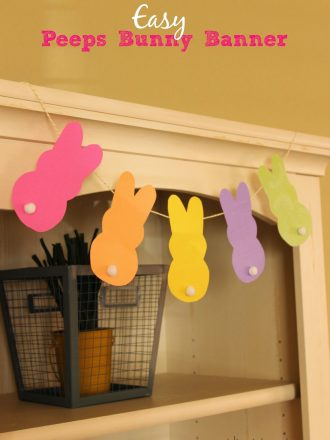 Easy Peeps Bunny Banner Easter Decoration