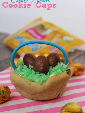 Easter Basket Cookie Cups