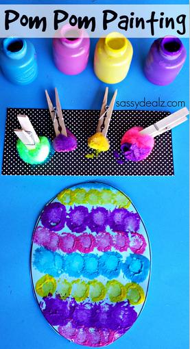 Pom Pom Easter Egg Craft I Dig Pinterest