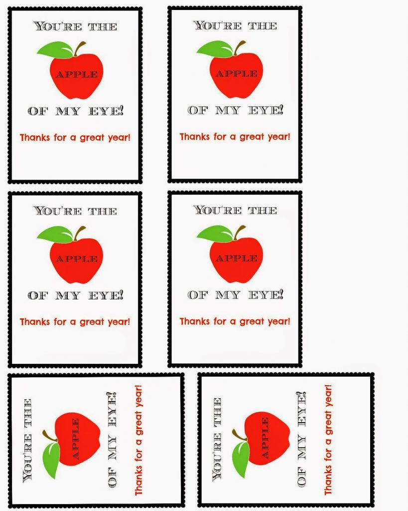 Apple Teacher or Classmate Appreciation Gift with Free
