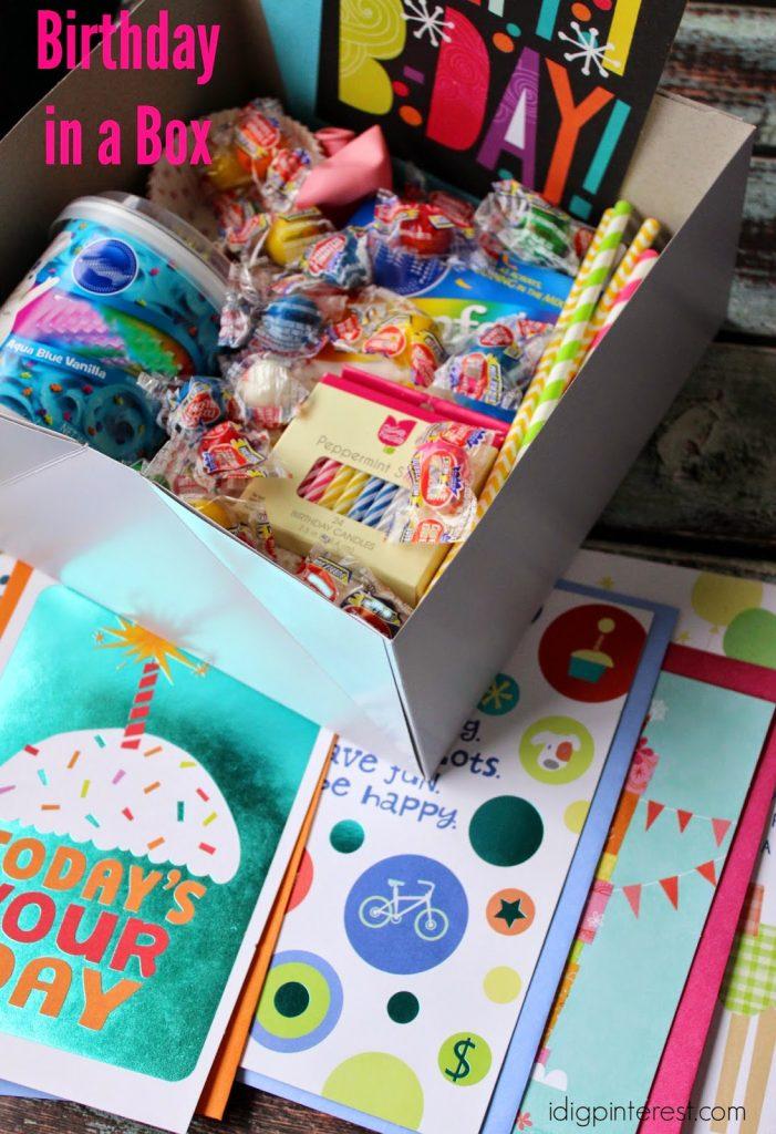 Birthday In A Box Gift Idea I Dig