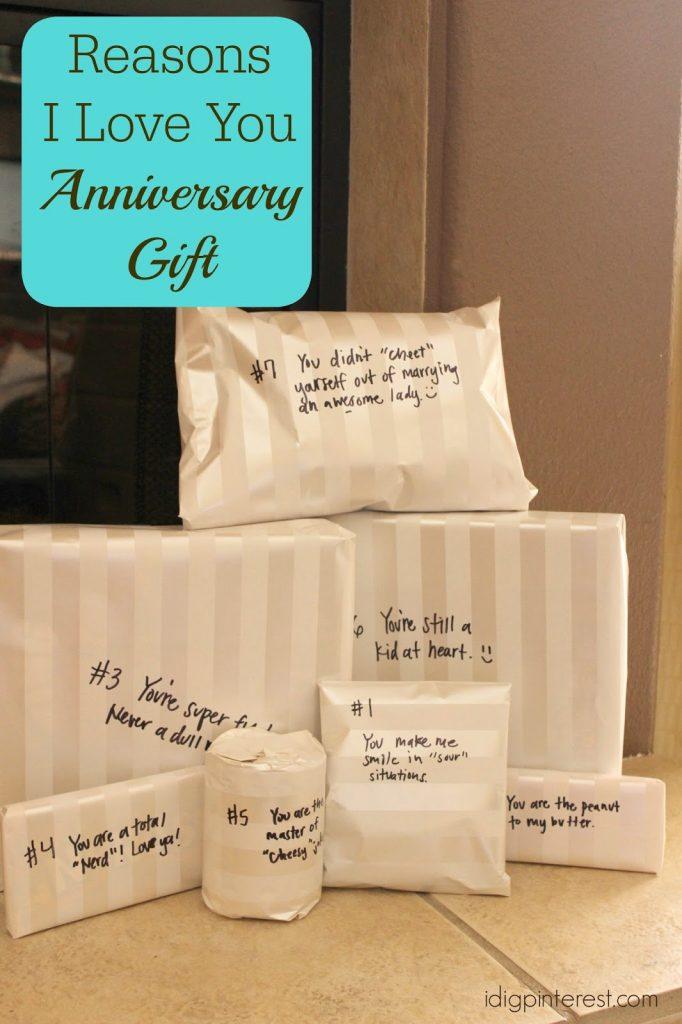 Reasons I Love You Wedding Anniversary Gift Idea I Dig Pinterest