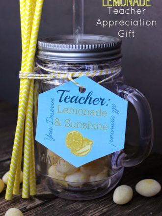 Lemonade Teacher Appreciation Gift with Free Printable