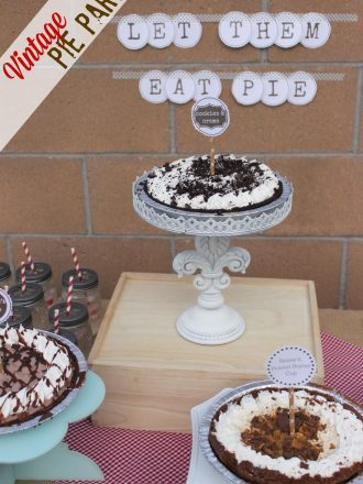 """Let Them Eat Pie"" Vintage Summer Dessert Party"