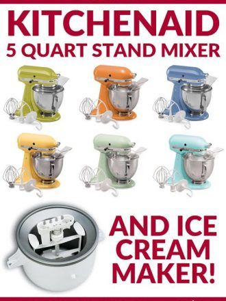 KitchenAid 5 Quart Stand Mixer Giveaway!