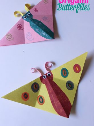 Origami Butterflies Kids Craft