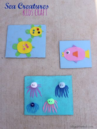 Sea Creatures Kids Craft