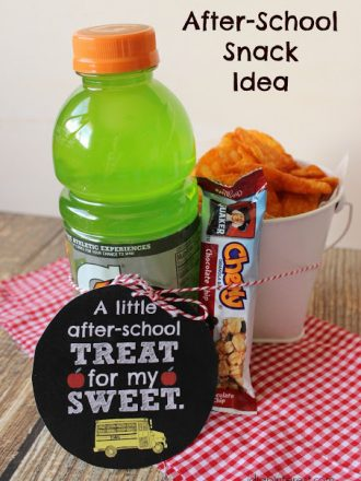 Easy After-School Snack Idea with Free Printable