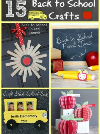 15 Creative Back to School Crafts