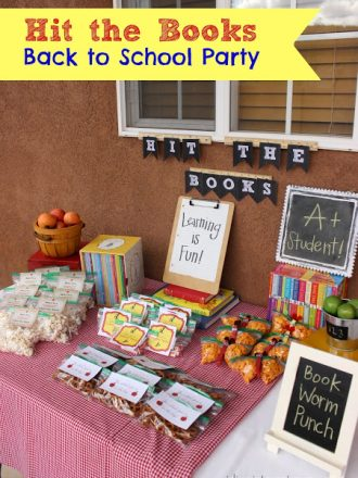 """""""Hit the Books"""" Back to School Party"""