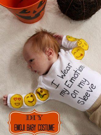 DIY Emoji Baby Costume for Under $10 in Under 10 Minutes!