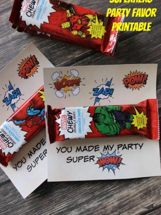MARVEL Party Favor with Free Printable