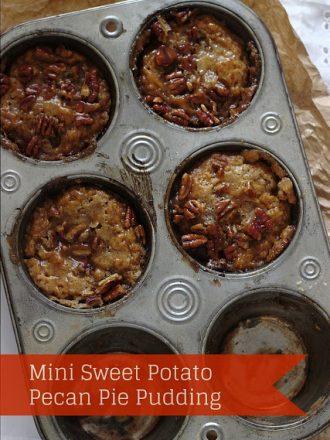 Mini Sweet Potato Pecan Pie Pudding