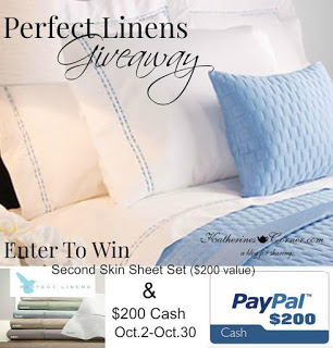 Perfect Linens Plus $200 Cash Giveaway!
