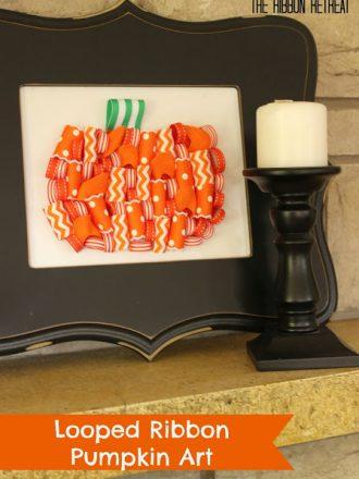 Looped Ribbon Pumpkin Art