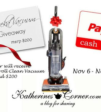 Eureka Vacuum plus $200 Cash Giveaway
