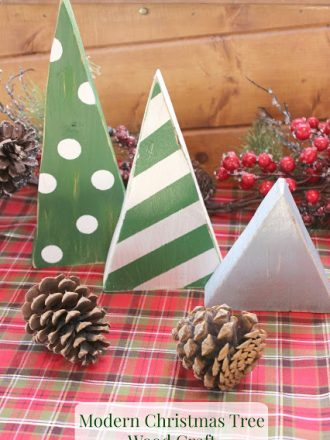 Modern Christmas Tree Wood Craft