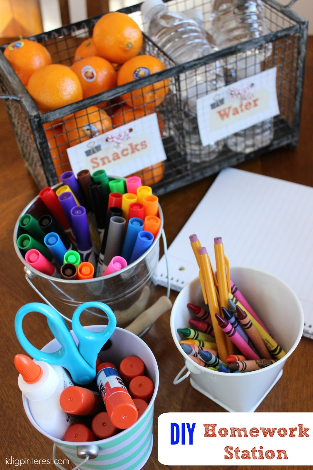 Diy After School Homework And Snack Station I Dig Pinterest