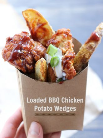 Loaded BBQ Chicken Potato Wedges