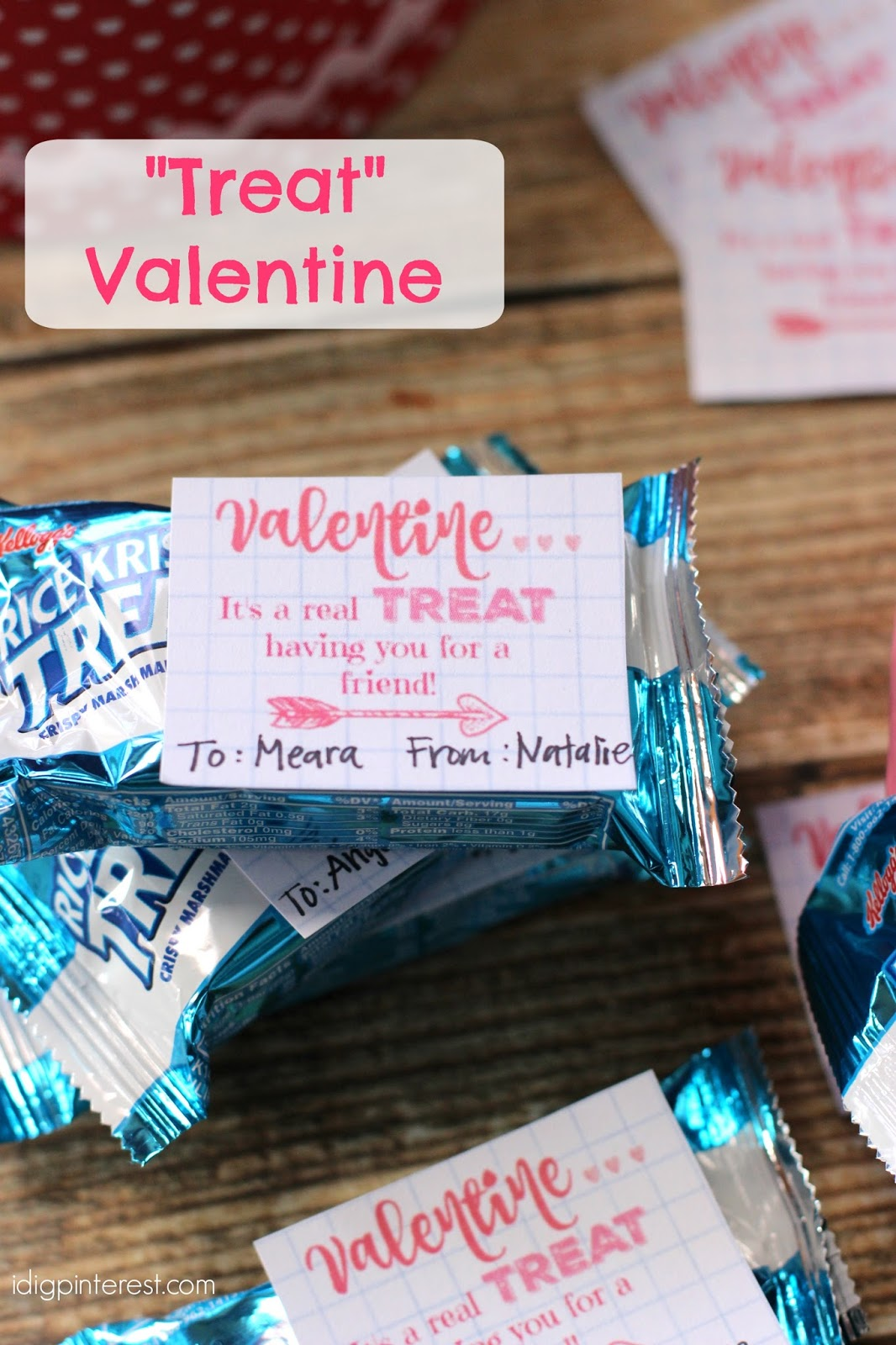 U201cTreatu201d Valentine Idea With Free Printable Tags