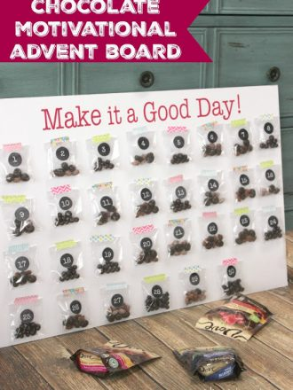 """""""Make It a Good Day"""" Chocolate Motivational Advent Board"""