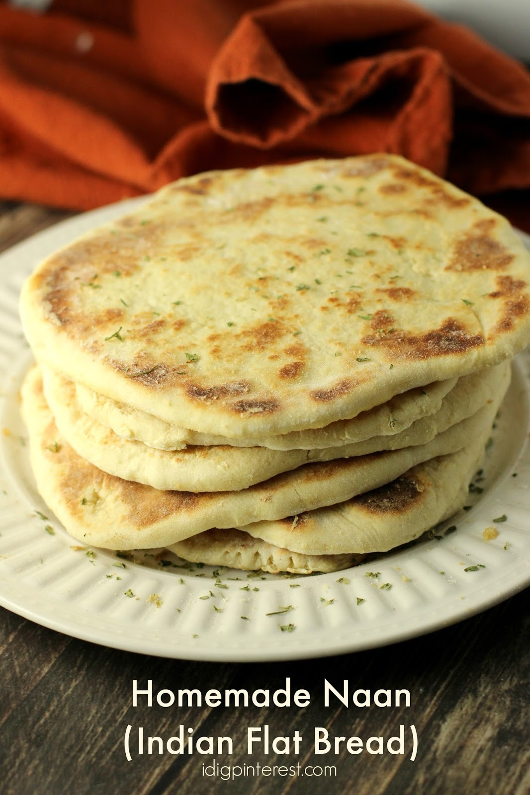Naan indian flat bread recipe i dig pinterest this stuff is a staple around our house you know how i love my carbs i get them any way i can and i just have to have some at every meal forumfinder Choice Image