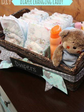 DIY Diaper Changing Caddy