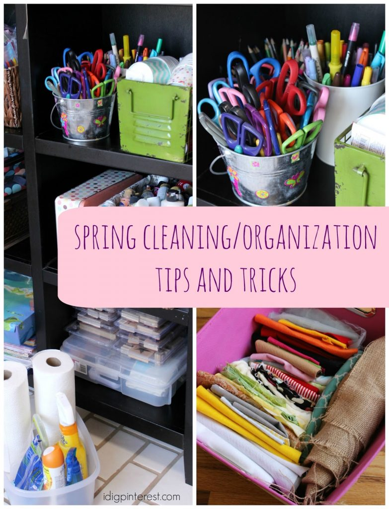 spring-cleaning-organization-tips-and-tricks-collage