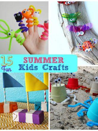 15 Fun Summer Kids' Crafts