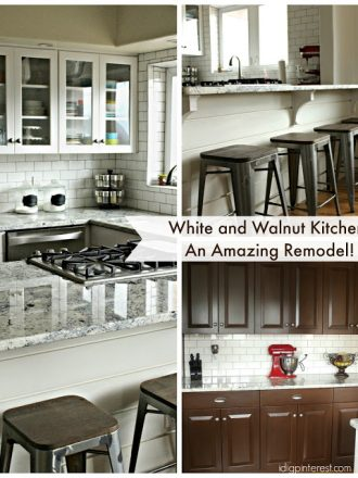 White and Walnut Kitchen Reveal! A Remodel that will Rock Your World!