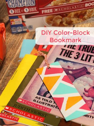 DIY Color Block Bookmark Plus How to Earn Free Scholastic Books!
