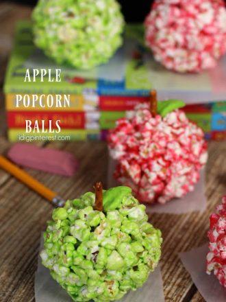 Apple Popcorn Balls