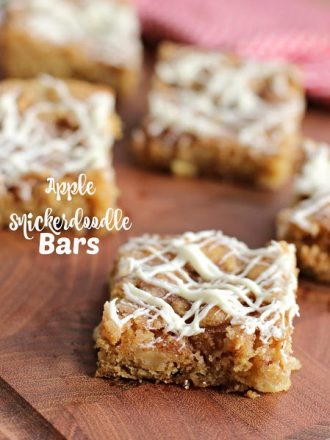 Apple Snickerdoodle Bars