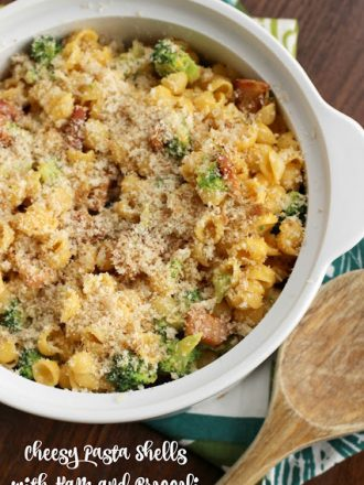 cheesy-pasta-shells-with-ham-and-broccoli