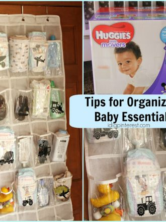 Tips for Storing Baby Essentials, Plus an Over-the-Door Nursery Organizer!