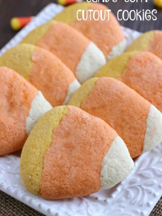 Candy Corn Cutout Cookies