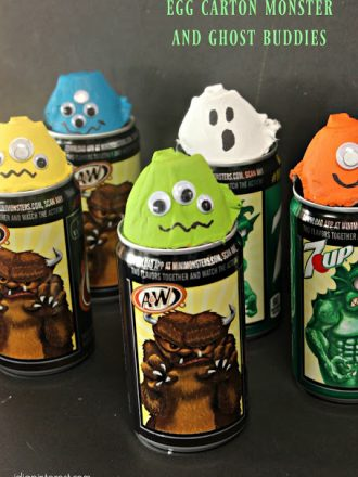 Egg Carton Monster and Ghost Buddies