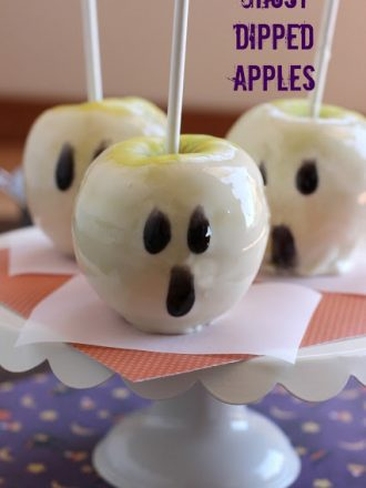 Ghost Dipped Apples