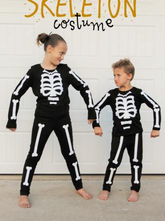 Easy DIY Skeleton Costume