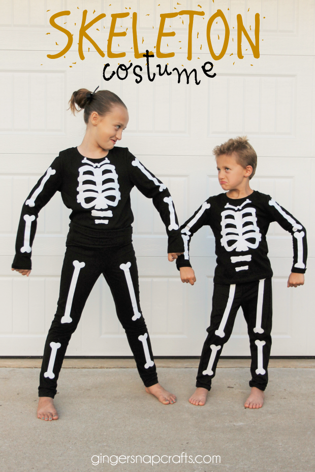 Hello I Dig Pinterest readers! Iu0027m Ginger from Ginger Snap Crafts and I am so excited to be back for another Halloween Extravaganza! Eek!  sc 1 st  I Dig Pinterest & Easy DIY Skeleton Costume - I Dig Pinterest