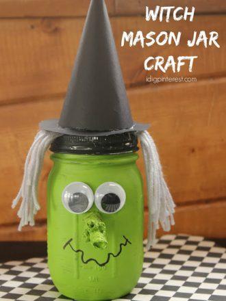Witch Mason Jar Craft