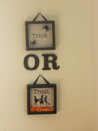 Trick-or-Treat Shadow Box Wall Decor