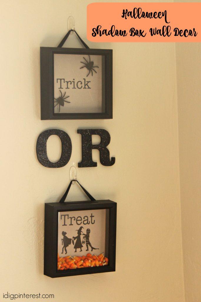 Trick-or-Treat Shadow Box Wall Decor - I Dig Pinterest