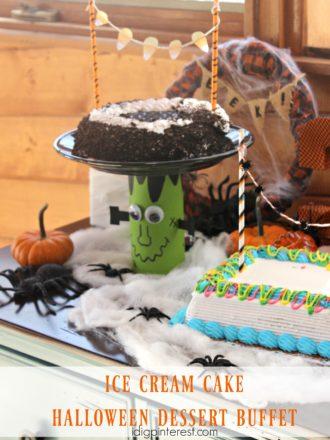 Ice Cream Cake Halloween Dessert Buffet