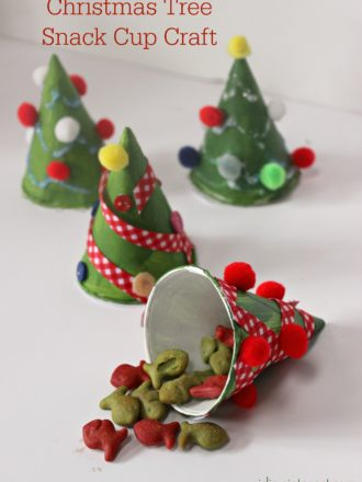 Christmas Tree Snack Cup Craft