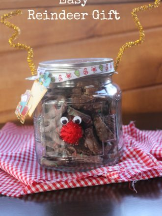 Easy DIY Reindeer Gift