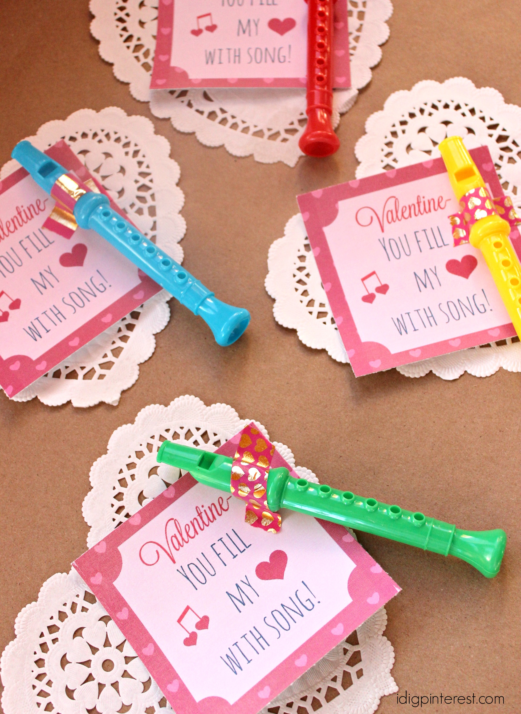 You Fill My Heart with Song Valentine Idea with Free Printable - I ...