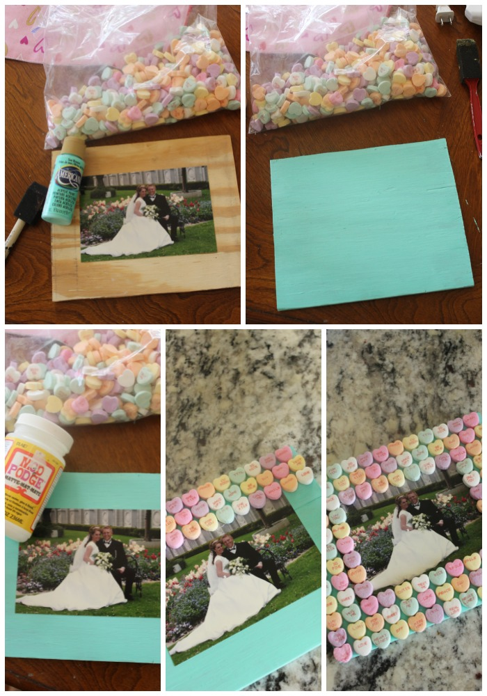 conversation heart photo frame tutorial collage