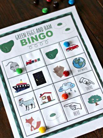 Dr. Seuss Green Eggs and Ham Bingo