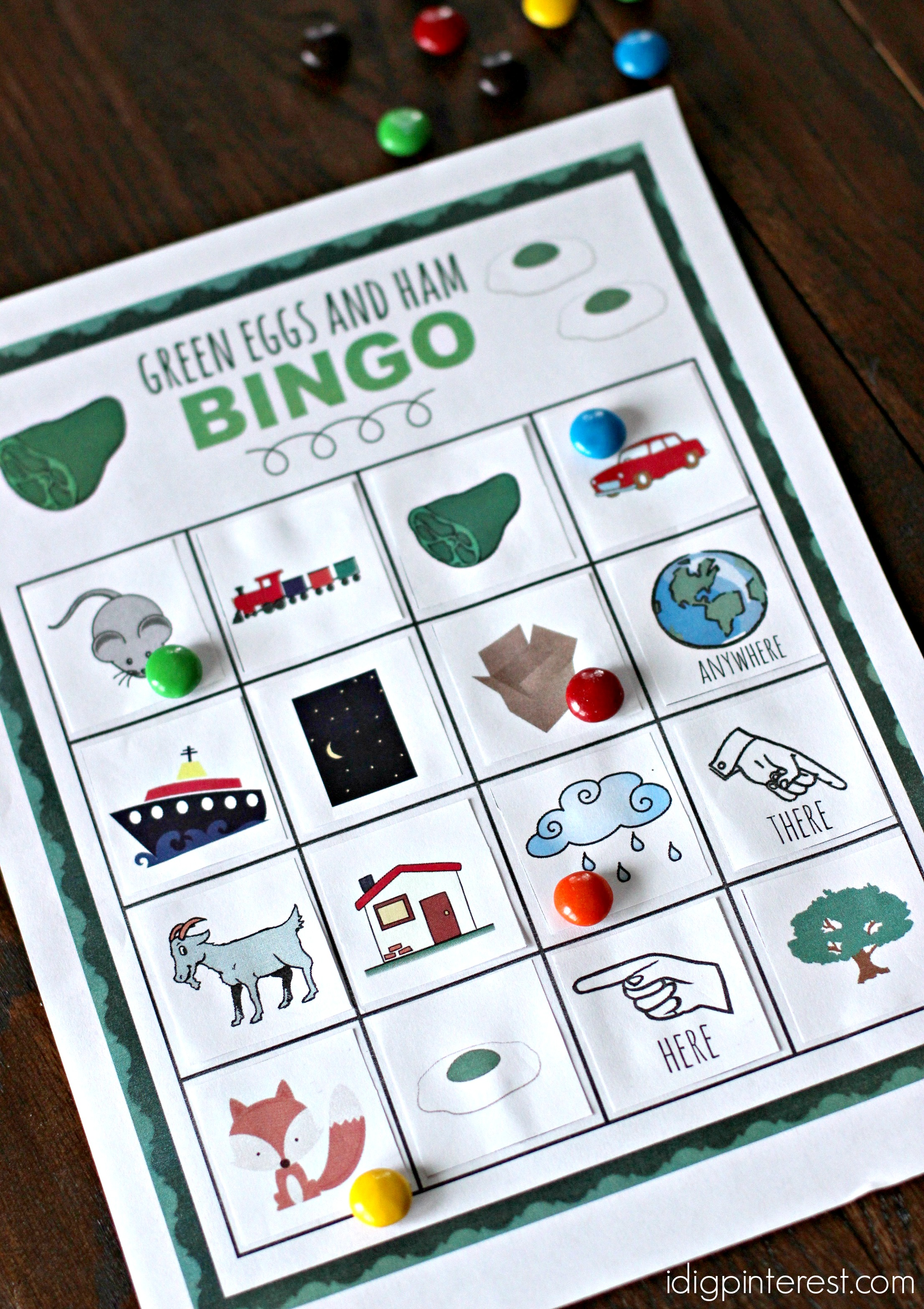 photo relating to Green Eggs and Ham Printable referred to as Dr. Seuss Inexperienced Eggs and Ham Bingo - I Dig Pinterest